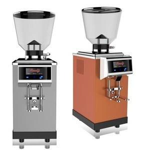 Black color burr electric coffee grinder semi-auto