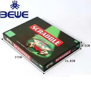 China Supplier Custom Educational Toys Scrabble Board Game