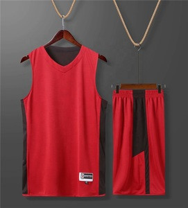 Custom Cheap High-quality Basketball uniform Mesh Blank Reversible Wholesale Men Basketball Jersey