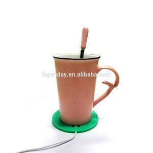 Customized USB cup warmer coaster food grade silicone cup mat