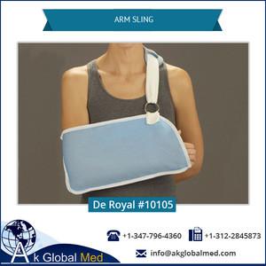 De Royal 10105 Hook and Loop Closure Shoulder Sling Light Blue Arm Sling