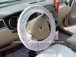 Disposable PE car steering wheel cover with elastic