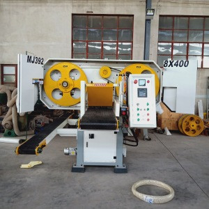 European Precision High Speed Auto Tissue Feed Large Solid Wood Cutting Horizontal Band Saw