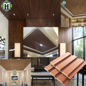 Factory price eco friendly WPC wood ceiling designs panel fireproof t and g teak suspended pvc interlock ceiling tiles panels