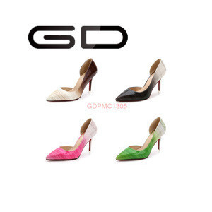 GD 2015 Fashion Queen style colorful style pump shoes for mature elegant