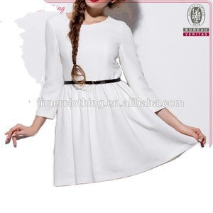 High Fashion New Design Ladies Long Sleeve Cocktail Dress for Ladies