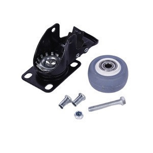 High quality caster wheels swivel plate with brake without brake roller transparent rubber caster