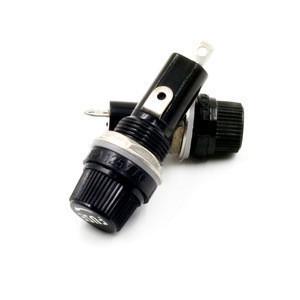High voltage bakelite PCB panel mounted fuse holder