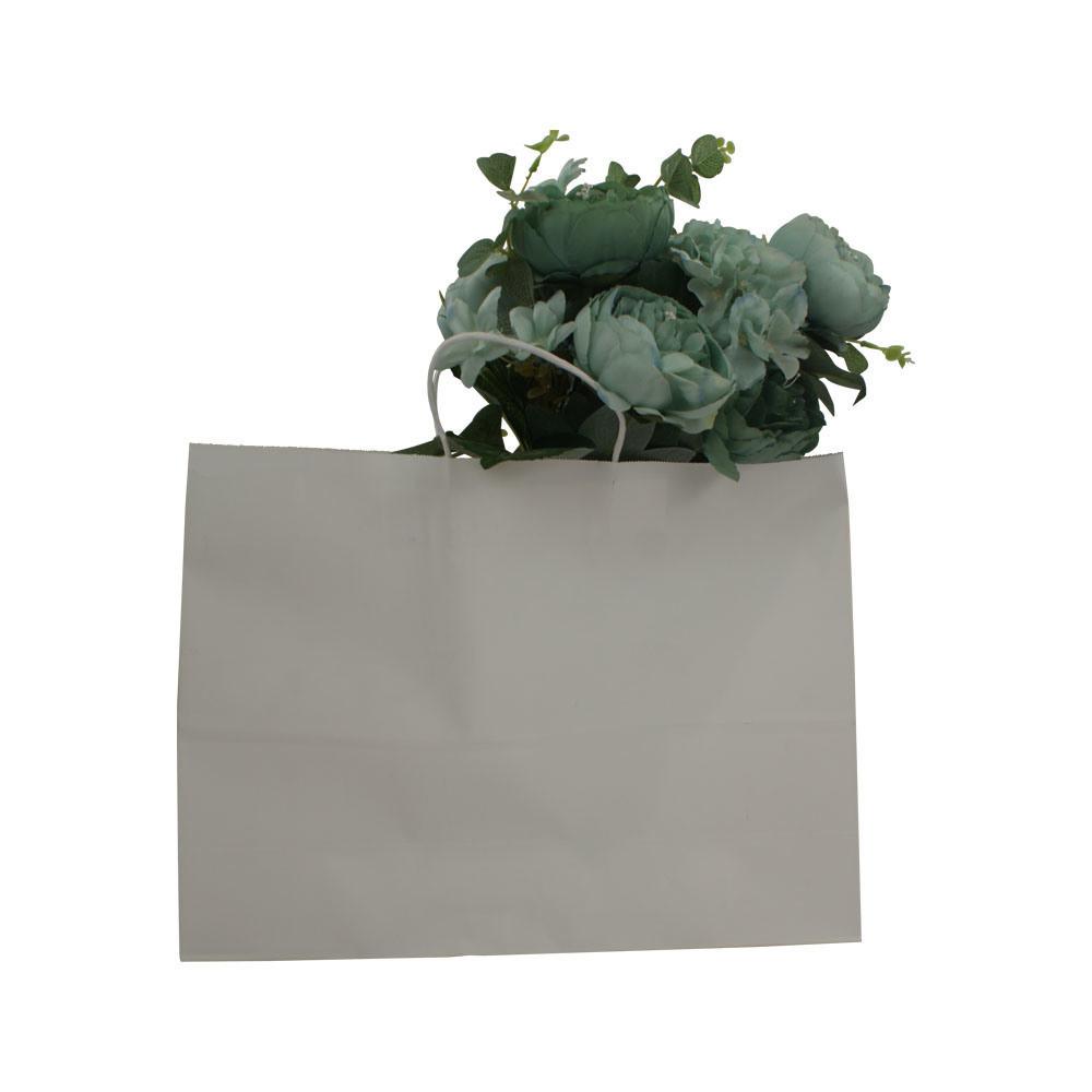 Horizontal Shape Large Size Customized Kraft Brown&White Paper Gift Bag