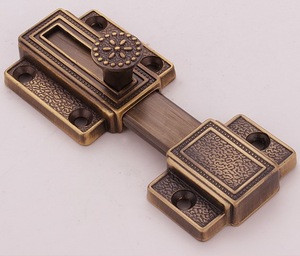 Hot sale furniture hardware brass tower bolt and  window bolt and the garden  lock for door