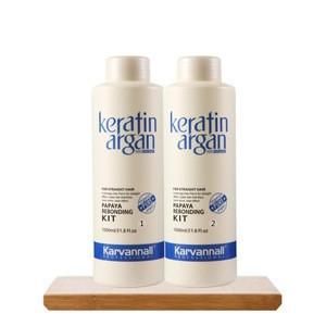 Karvannall Hair Straightening Rebonding Treatment Liquid Lotion Brazilian Keratin Hair Care Styling Cream