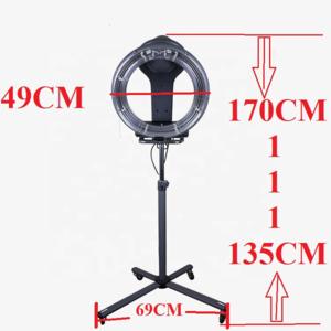 Kisen salon professional equipment standing type Infrared hair dryer machine hair steamer