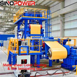 Metal sheet coil laminating film machine industrial laminating machine price