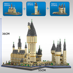 Mini 7750pcs Small Particle Harris Hogwarts Castle Potters LegoLyss Building Blocks Playmobil Friends Toys Gift for Children