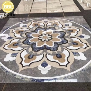 Natural stone marble flooring design decorative wall waterjet medallions