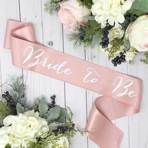Satin bachelorette sash bride to be sash rose gold belt bridal shower gift for bride birthday party decoration