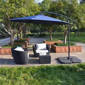 Steel banana garden umbrella 3m outdoor  hanging patio umbrella