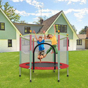 Trampoline With Enclosure Net Jumping Mat And Spring Pad, 5 Ft Trampoline For Kids