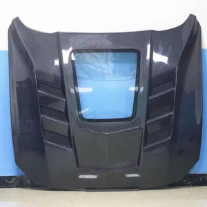 Transparent window carbon hood for Mustang 2015-2020 engine cover perfect fitment high quality