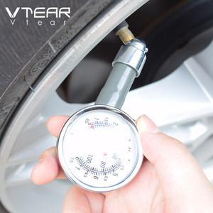 Vtear universal car tire air pressure gauge auto metal tester high precision manometer accessories trunk diagnostic car-styling
