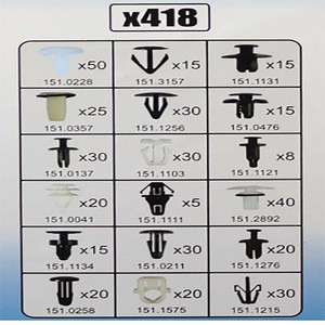 Wholesale 418Pc Automotive Plastic Clips Fixings And Fasteners For Car