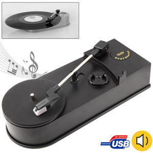 Wholesale Free Sample Dropshipping USB Mini Phonograph Turntable Vinyl Turntables Audio Player