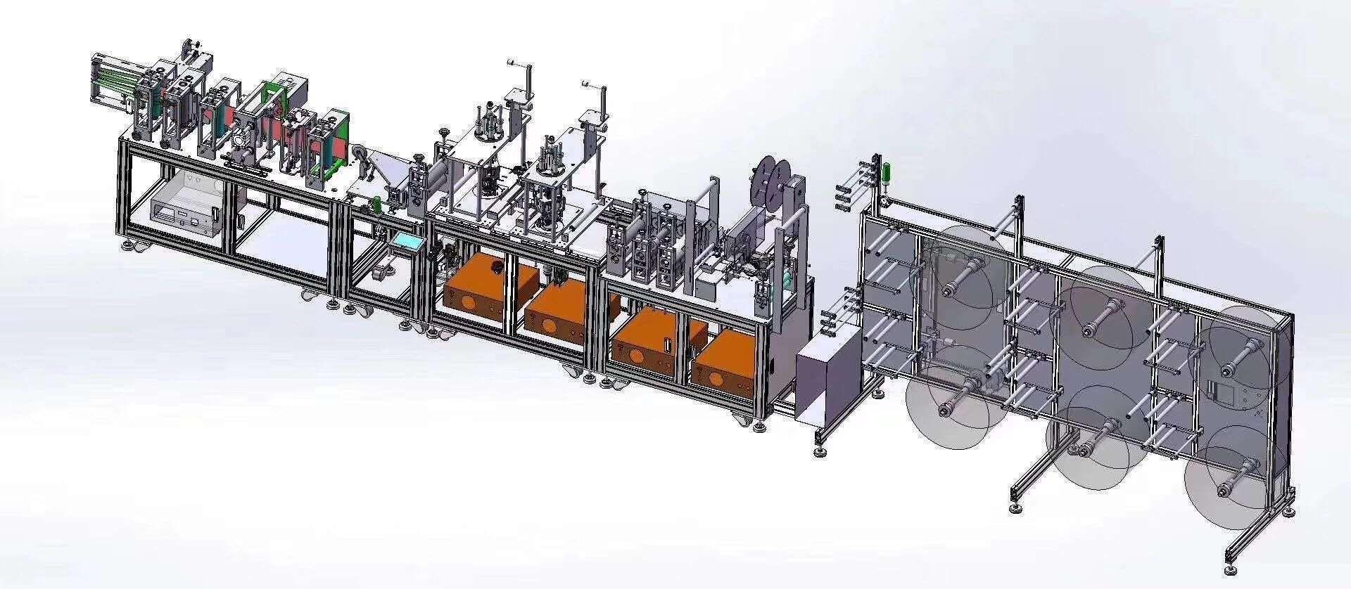 Mask production machine
