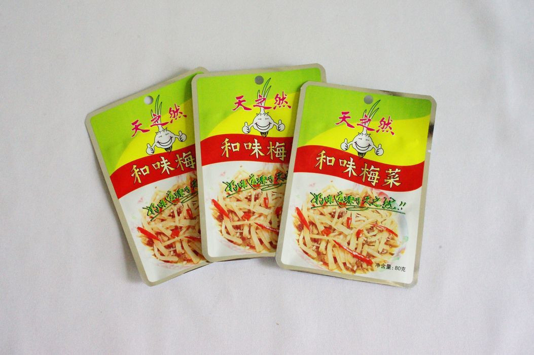 Preserved vegetables, pickled tuber mustard, kimchi high barrier packaging 3-sides-seal retort pouch
