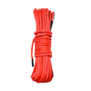 12 strand off-road uhmwpe synthetic towing winch rope with sleeve and thimble for ATV/UTV/SUV/4X4/4WD