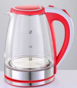 1.8L electric water glass kettle with CE certificate quality automatic power shut off of house kitchen appliance