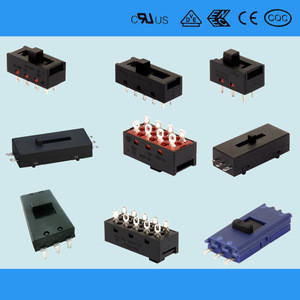 2-5 tap position slide switch for home appliances with safety approval