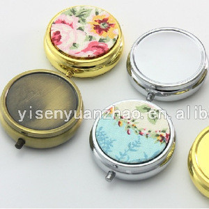 2018 Hot Sale Cheap Japan Style Custom Design PU And Metal 3 Small Pill Box For Sale Pill Storage Cases