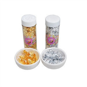2g/bottle Edible Pure Gold Silver Leaf for Cake Decoration