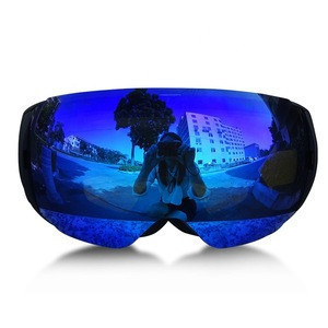 Anti-Fog Anti-Scratch Coating and 100% UV Protection Magnet Snowboard Ski Goggles with Bucle