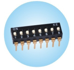 Black pin header DSIC series pitch 2.54mm DIP switch