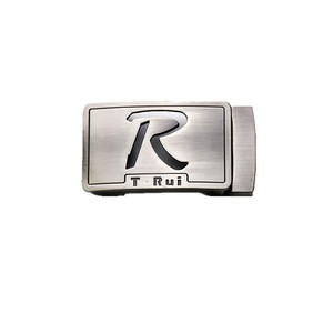 Custom fashion design customized color brush ratchet automatic belt buckle