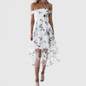 Custom Women's Floral Print Strappy Midi Bodycon Beach Club Pencil Dress