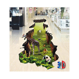 Customized printing 3d High Quality Vinyl Pavement Stickers Floor graphics decals