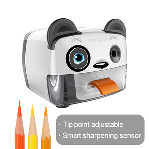 DC power tiger electric pencil sharpener adjust shapeness of pencil design for kids with OEM