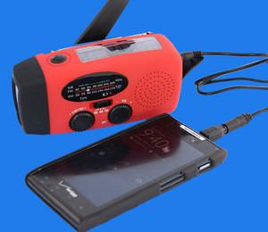Emergency 3 LED Flashlight Torch AM FM Radio Charger / LED Flashlight Self Power Bank / power bank+fm radio+flashlight
