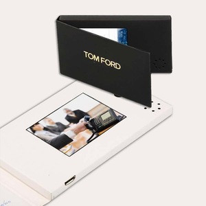 Factory Custom  LCD video invitation card greeting  electronic card video book