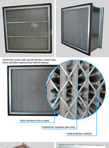 H13 hepa air filter with double flange