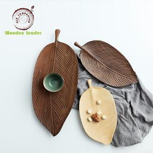 Hand Makde Japanese Leaf Bamboo Wood Sushi Plate