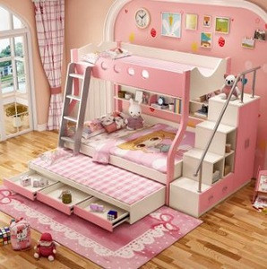 High quality kids bunk bed Children furniture bunk bed with slide