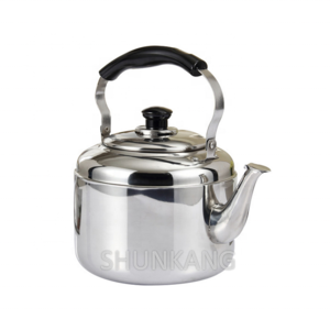 High quality stainless steel ring sound kettle/whistling kettle with plastic handle