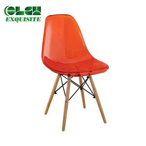 High Quality Wooden legs PP Plastic Dinning Restaurant Chair