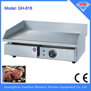 Hot sale commercial stainless steel electric griddle cooktop