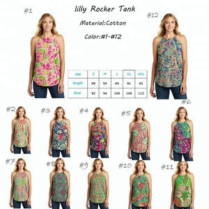 In Stock Wholesale New Style Monogram Lilly Rocker Tank