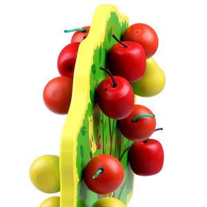 Mengshi Early Mathematics Teaching Aid Wooden Magnetic Fruit Beaded Toys Happy Fruit Paradise