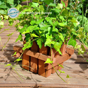 Outdoor Colourful Pressure treated timber wood planter wood planter